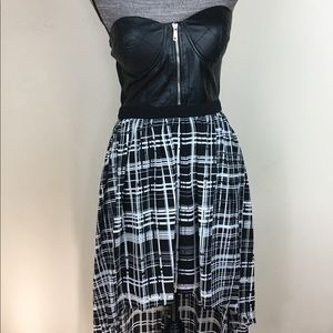 Forever21 Bustier Faux Leather Tube Hi Low Dress